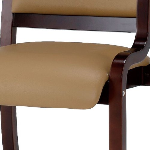 介護椅子 ダークブラウンフレーム 角背 木製チェア 手掛け付き IKD-04 肘あり商品画像8