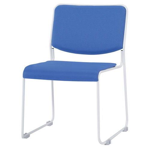 会議椅子 スタッキングチェア IMP-430 ループ脚 布張り 肘なし商品画像2