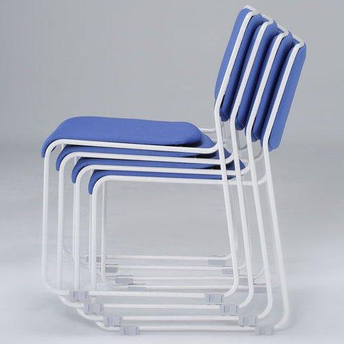 会議椅子 スタッキングチェア IMP-430 ループ脚 布張り 肘なし商品画像4