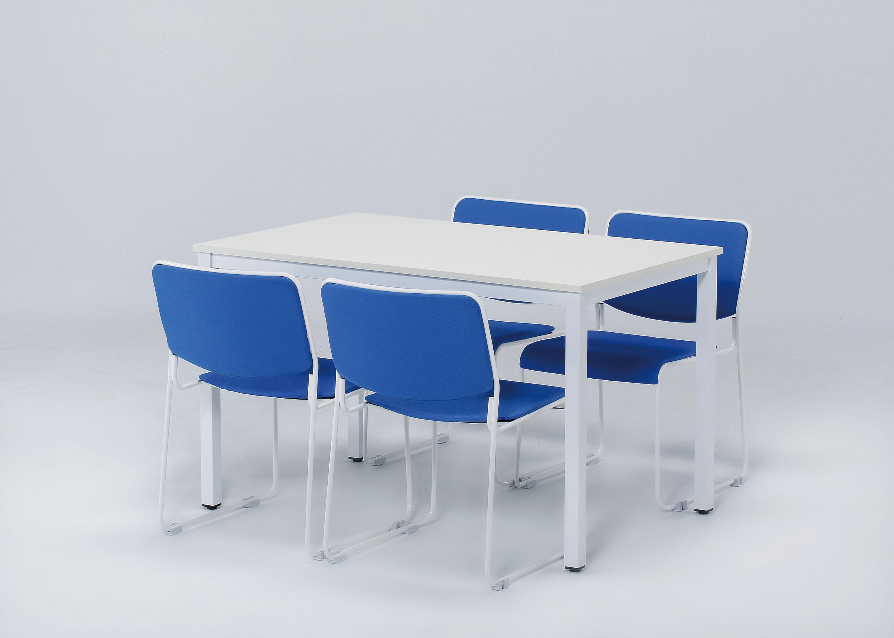 会議椅子 スタッキングチェア IMP-430 ループ脚 布張り 肘なし商品画像5