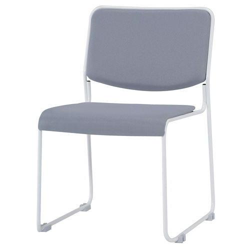 会議椅子 スタッキングチェア IMP-430 ループ脚 布張り 肘なしのメイン画像