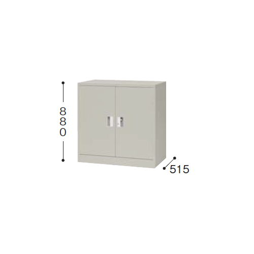 【WEB販売休止中】スチール書庫 ナイキ 奥深両開き書庫 棚板1枚 K337N-AW W880×D515×H880(mm)のメイン画像