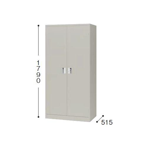 スチール書庫 奥深両開き書庫 棚板4枚 K367N-AW W880×D515×H1790(mm)のメイン画像