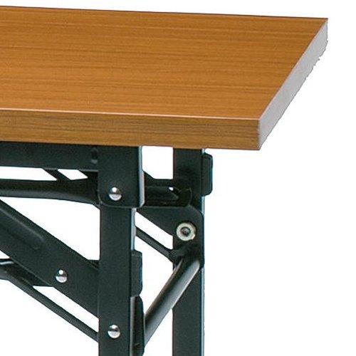 折りたたみテーブル 共貼り KM-1545T W1500×D450×H700(mm)商品画像5