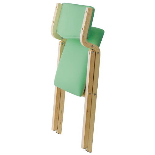 介護椅子 井上金庫(イノウエ) 折りたたみ式 木製チェア KOI-11商品画像2