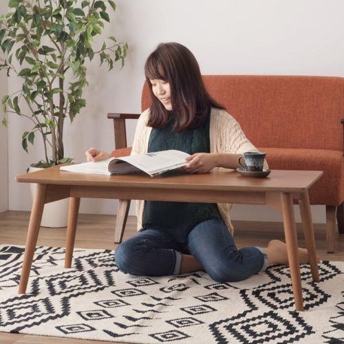 センターテーブル カラメリシリーズ ブラウンカラー 天然木(アッシュ) W1000×D500×H400(mm)商品画像4