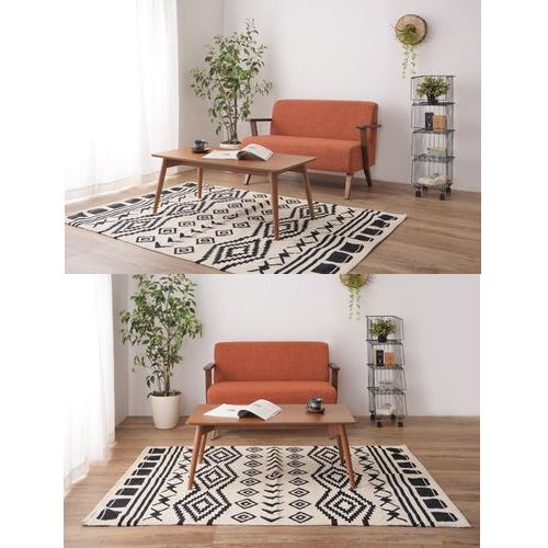 センターテーブル カラメリシリーズ ブラウンカラー 天然木(アッシュ) W1000×D500×H400(mm)商品画像7