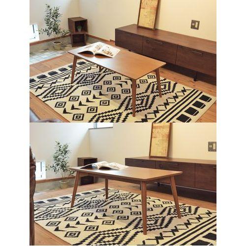 センターテーブル カラメリシリーズ ブラウンカラー 天然木(アッシュ) W1000×D500×H400(mm)商品画像8