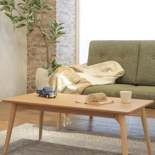 センターテーブル カラメリシリーズ ナチュラルカラー 天然木(アッシュ) W1000×D500×H400(mm)商品画像5
