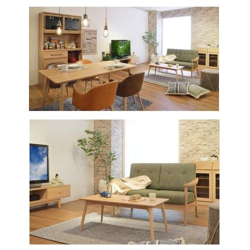 センターテーブル カラメリシリーズ ナチュラルカラー 天然木(アッシュ) W1000×D500×H400(mm)商品画像6