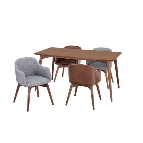 ダイニングテーブル カラメリシリーズ ブラウンカラー 天然木(アッシュ) W1500×D800×H720(mm)商品画像3