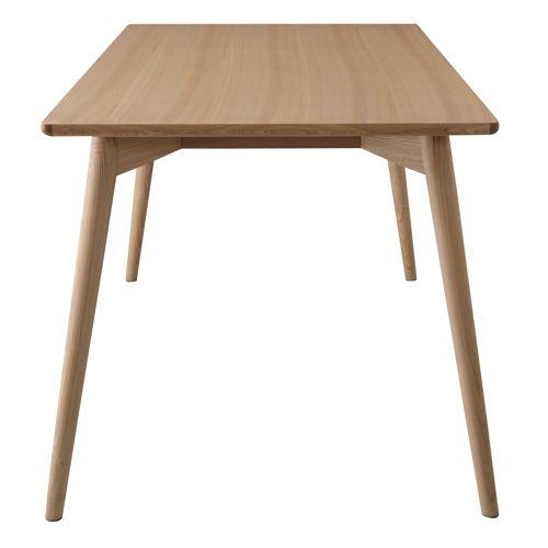 ダイニングテーブル カラメリシリーズ ナチュラルカラー 天然木(アッシュ) W1500×D800×H720(mm)商品画像4