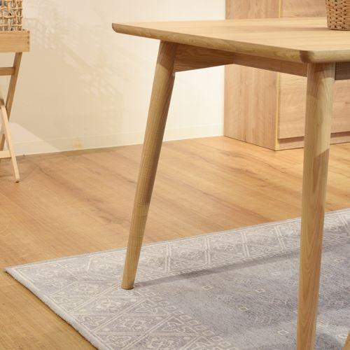 ダイニングテーブル カラメリシリーズ ナチュラルカラー 天然木(アッシュ) W1500×D800×H720(mm)商品画像5