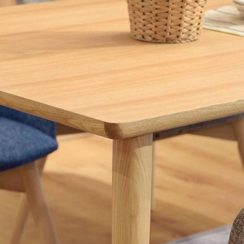 ダイニングテーブル カラメリシリーズ ナチュラルカラー 天然木(アッシュ) W1500×D800×H720(mm)商品画像8