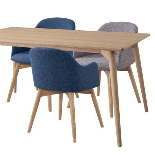 ダイニングテーブル カラメリシリーズ ナチュラルカラー 天然木(アッシュ) W1500×D800×H720(mm)商品画像9