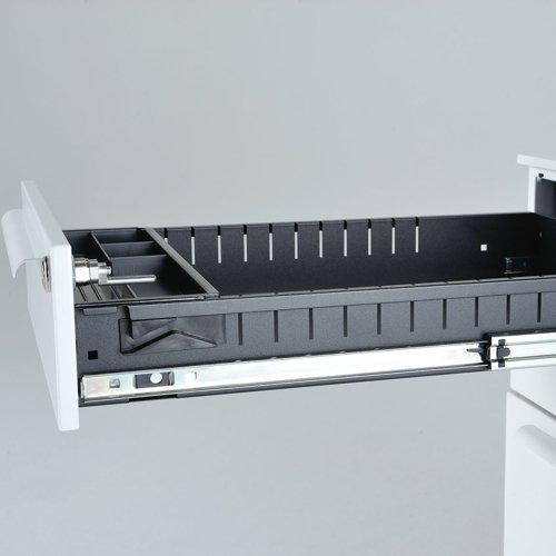 デスク 井上金庫(イノウエ) ワゴン 3段 ホワイト LCW-3 W390×D540×H600(mm)商品画像2