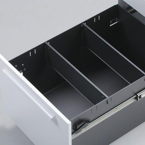 デスク 井上金庫(イノウエ) ワゴン 3段 ホワイト LCW-3 W390×D540×H600(mm)商品画像3