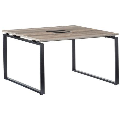 会議用テーブル LPTB-1212 W1200×D1200×H720(mm) ブラックカラー粉体塗装スクエア脚テーブル コードホール付き商品画像3