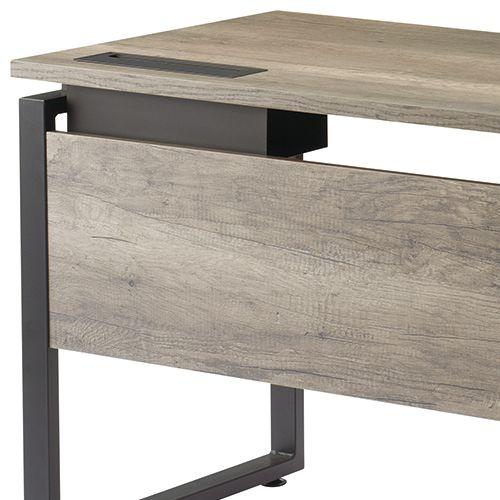 ワークテーブル LPTB-1260 W1200×D600×H720(mm) ブラックカラー粉体塗装スクエア脚テーブル 幕板付き コードホール付き商品画像9