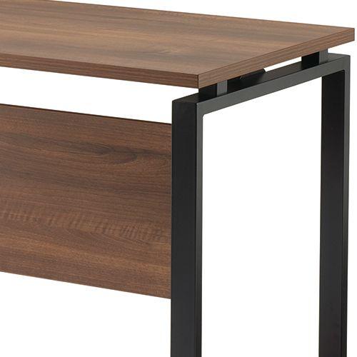 ワークテーブル LPTB-1260 W1200×D600×H720(mm) ブラックカラー粉体塗装スクエア脚テーブル 幕板付き コードホール付き商品画像10