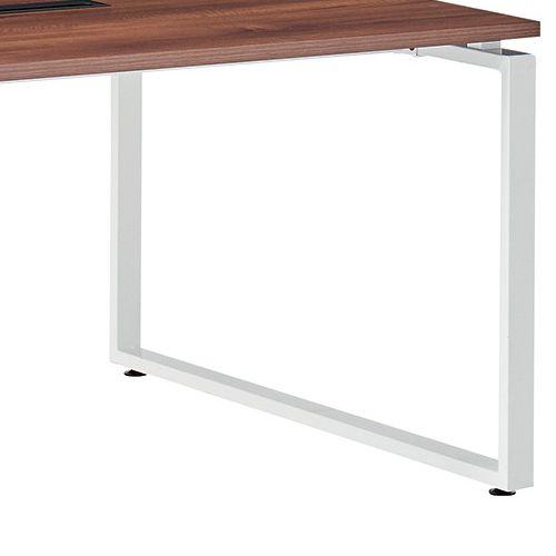 会議用テーブル LPTW-1212 W1200×D1200×H720(mm) ホワイトカラー粉体塗装スクエア脚テーブル コードホール付き商品画像10