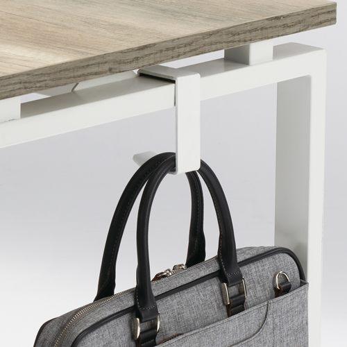 ワークテーブル LPTW-1260 W1200×D600×H720(mm) ホワイトカラー粉体塗装スクエア脚テーブル 幕板付き コードホール付き商品画像6