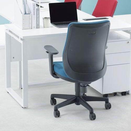 ワークテーブル LPTW-1260 W1200×D600×H720(mm) ホワイトカラー粉体塗装スクエア脚テーブル 幕板付き コードホール付き商品画像8