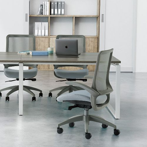 会議用テーブル LPTW-2412 W2400×D1200×H720(mm) ホワイトカラー粉体塗装スクエア脚テーブル コードホール付き商品画像10