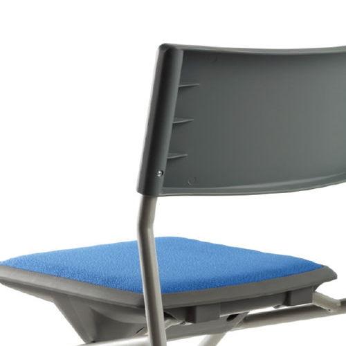 会議椅子 平行スタックチェア 肘なし MC-121G キャスター脚 グレーシェル商品画像9
