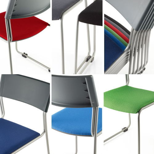 会議椅子 スタッキングチェア MC-131G 連結脚 グレーシェル商品画像6