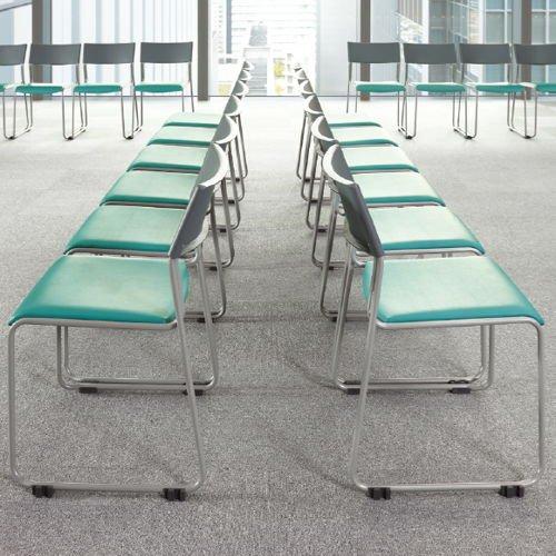 会議椅子 スタッキングチェア MC-131G 連結脚 グレーシェル商品画像7