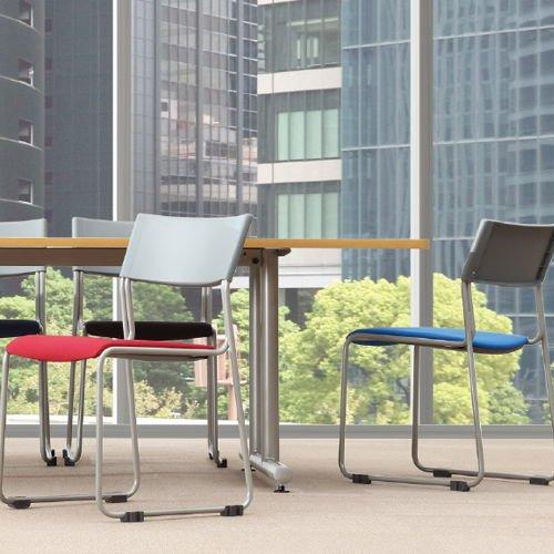 会議椅子 スタッキングチェア MC-131G 連結脚 グレーシェル商品画像8