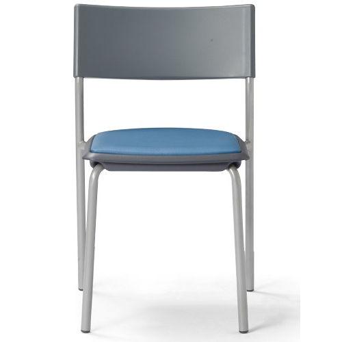 会議椅子 スタッキングチェア 肘なし MC-141G 固定脚 グレーシェル商品画像3