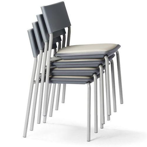 会議椅子 スタッキングチェア 肘なし MC-141G 固定脚 グレーシェル商品画像4