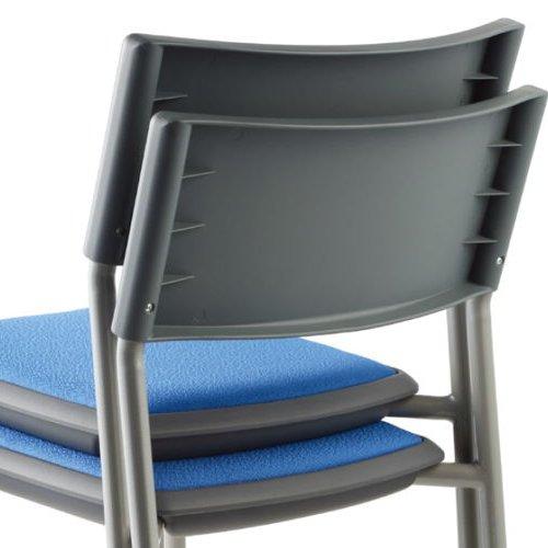 会議椅子 スタッキングチェア 肘なし MC-141G 固定脚 グレーシェル商品画像7