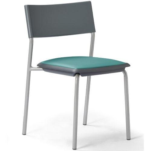 会議椅子 スタッキングチェア 肘なし MC-141G 固定脚 グレーシェルのメイン画像