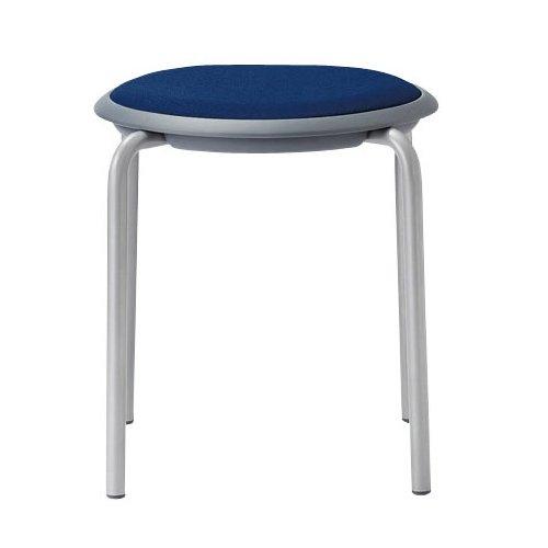 会議椅子 スツール(丸椅子) 背なし スタッキングチェア MC-150G 固定脚 グレーシェル商品画像3