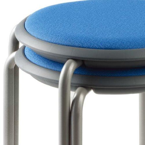 会議椅子 スツール(丸椅子) 背なし スタッキングチェア MC-150G 固定脚 グレーシェル商品画像6