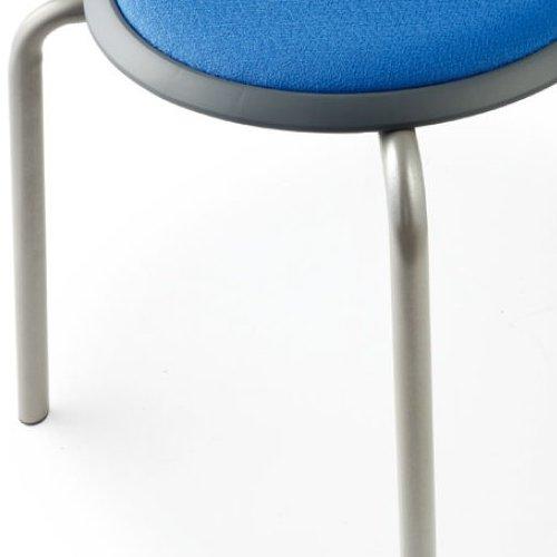 会議椅子 スツール(丸椅子) 背なし スタッキングチェア MC-150G 固定脚 グレーシェル商品画像7