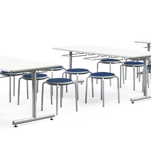 会議椅子 スツール(丸椅子) 背なし スタッキングチェア MC-150G 固定脚 グレーシェル商品画像9