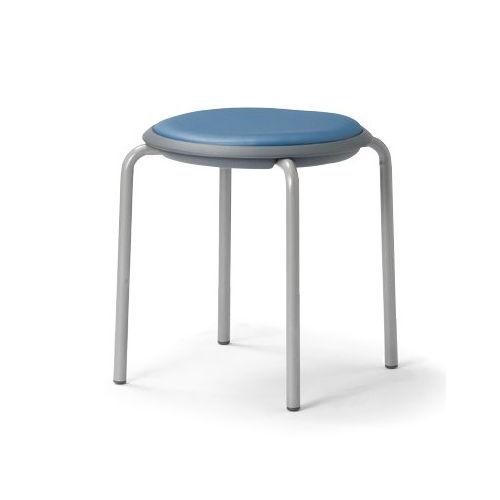 会議椅子 スツール(丸椅子) 背なし スタッキングチェア MC-150G 固定脚 グレーシェルのメイン画像
