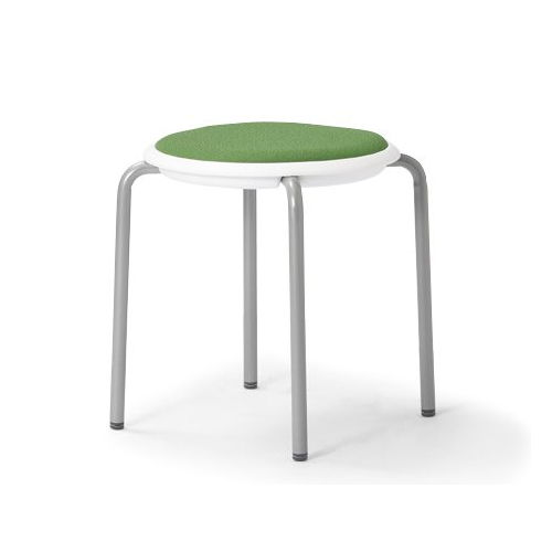 会議椅子 スツール(丸椅子) 背なし スタッキングチェア MC-150W 固定脚 ホワイトシェル商品画像2