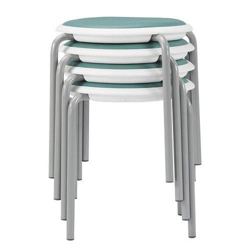 会議椅子 スツール(丸椅子) 背なし スタッキングチェア MC-150W 固定脚 ホワイトシェル商品画像3