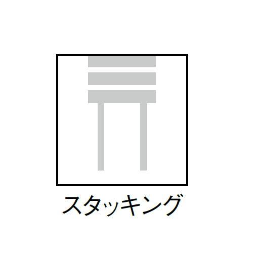 スツール(丸椅子) アイコ 背なし スタッキングチェア MC-150W 固定脚 ホワイトシェル商品画像6