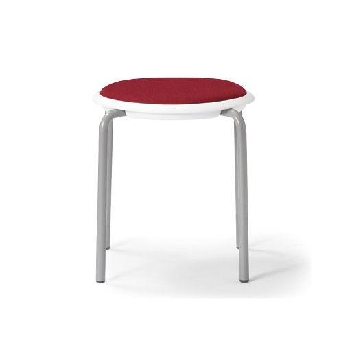 会議椅子 スツール(丸椅子) 背なし スタッキングチェア MC-150W 固定脚 ホワイトシェルのメイン画像