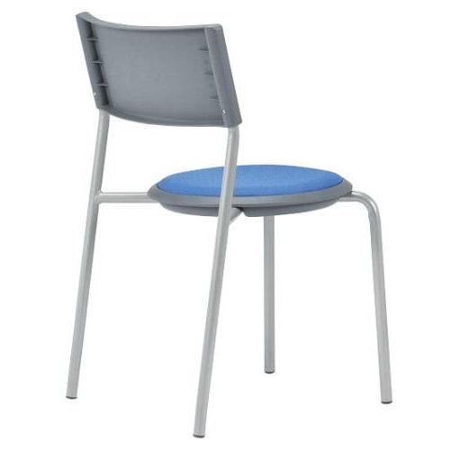 会議椅子 スツール(丸椅子) 背付き スタッキングチェア MC-151G 固定脚 グレーシェル商品画像2