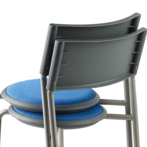 会議椅子 スツール(丸椅子) 背付き スタッキングチェア MC-151G 固定脚 グレーシェル商品画像6