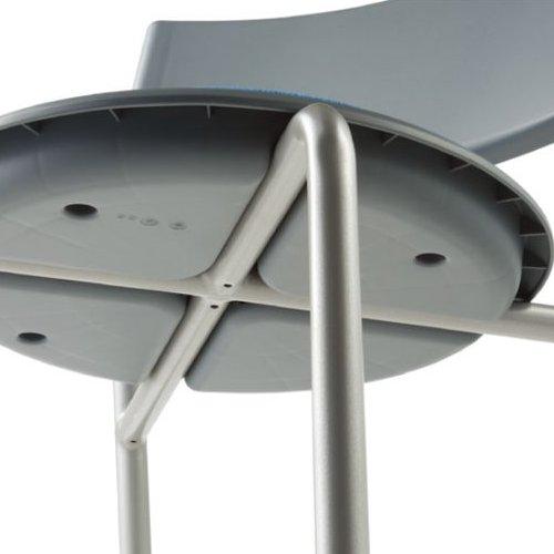 会議椅子 スツール(丸椅子) 背付き スタッキングチェア MC-151G 固定脚 グレーシェル商品画像8