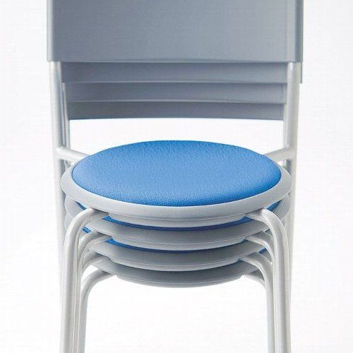 会議椅子 スツール(丸椅子) 背付き スタッキングチェア MC-151G 固定脚 グレーシェル商品画像9