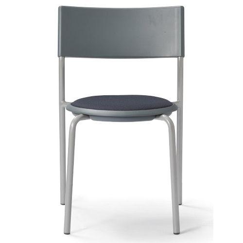 会議椅子 スツール(丸椅子) 背付き スタッキングチェア MC-151G 固定脚 グレーシェルのメイン画像